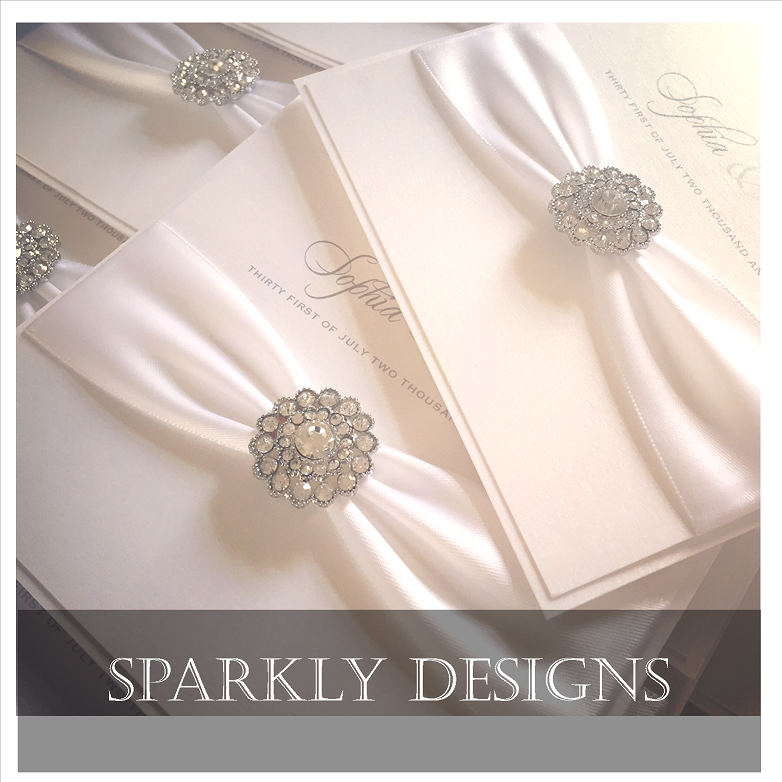 Luxury stylish and sparkly wedding invitations davetiye