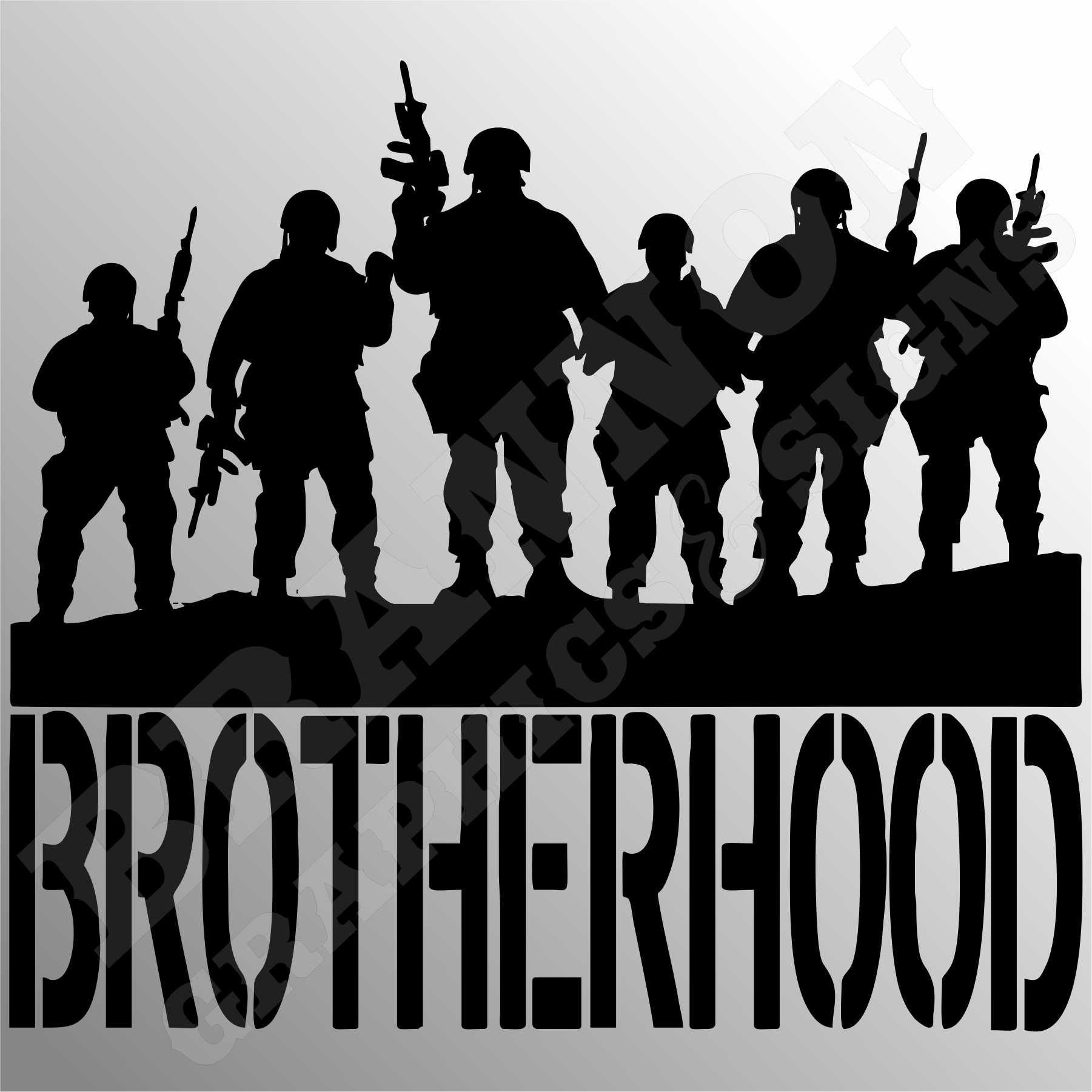 Brotherhood Military Themed Design That Can Be Made Into Decals Signs Or T Shirts Fully Customizable Imagenes Militares Cumpleanos De Camuflaje Siluetas [ 1801 x 1801 Pixel ]