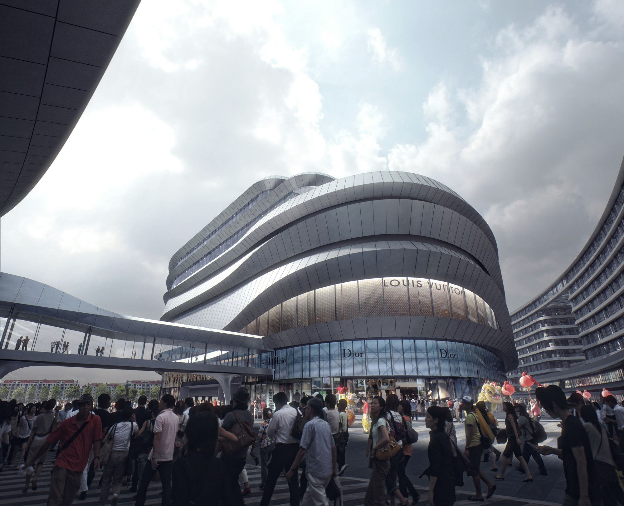 Gallery Of Aedas Leaf Shaped Sales Gallery Nears Completion In Shanghai 3 China Architecture Shanghai Qingpu