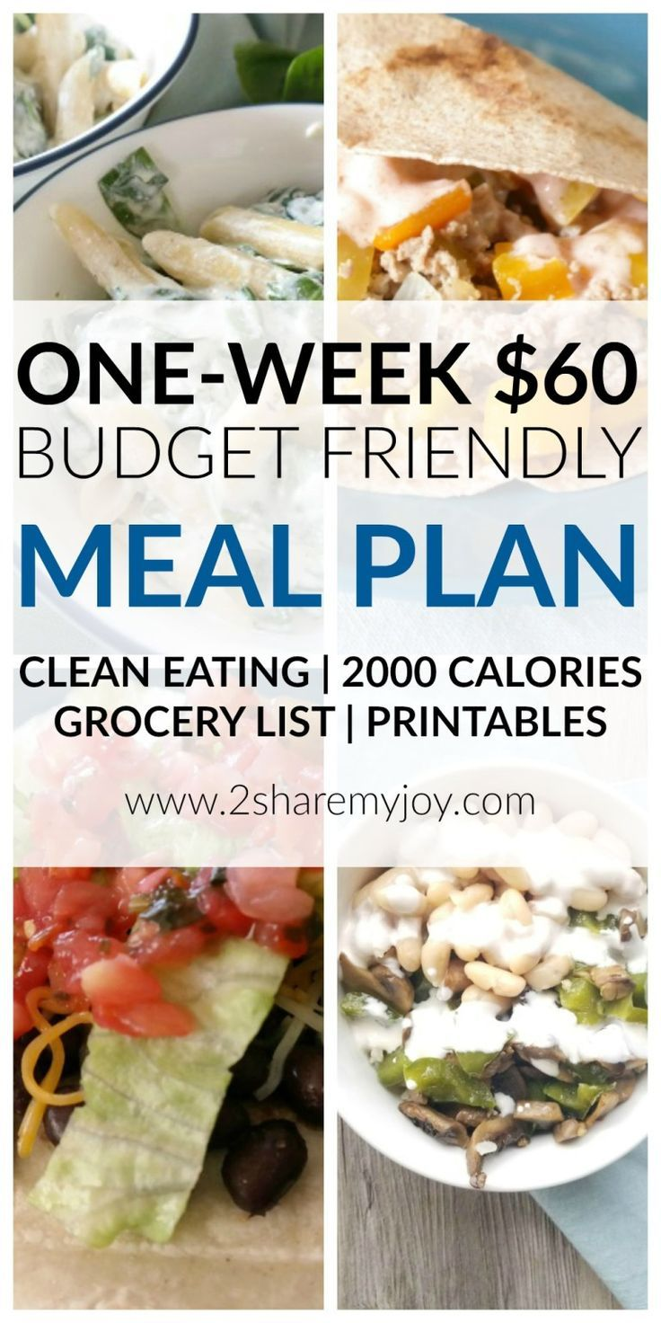 Frugal and Healthy Meal Plan for Two (2000 Calorie Diet) images