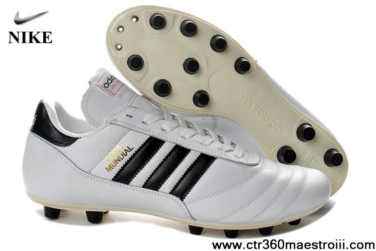 Venta al por mayor descuento todo blanco adidas Copa Mundial FG botas de fútbol