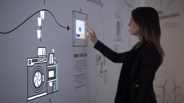 An interactive installation produced by Meerkats. Illustration by Matthew Wong. Projection Animation by Sam Price.