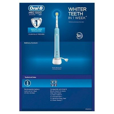 Oral B Precision Clean 1000 3d White Rechargeable Electric Toothbrush Oral B Gum Care Battery Toothbrush