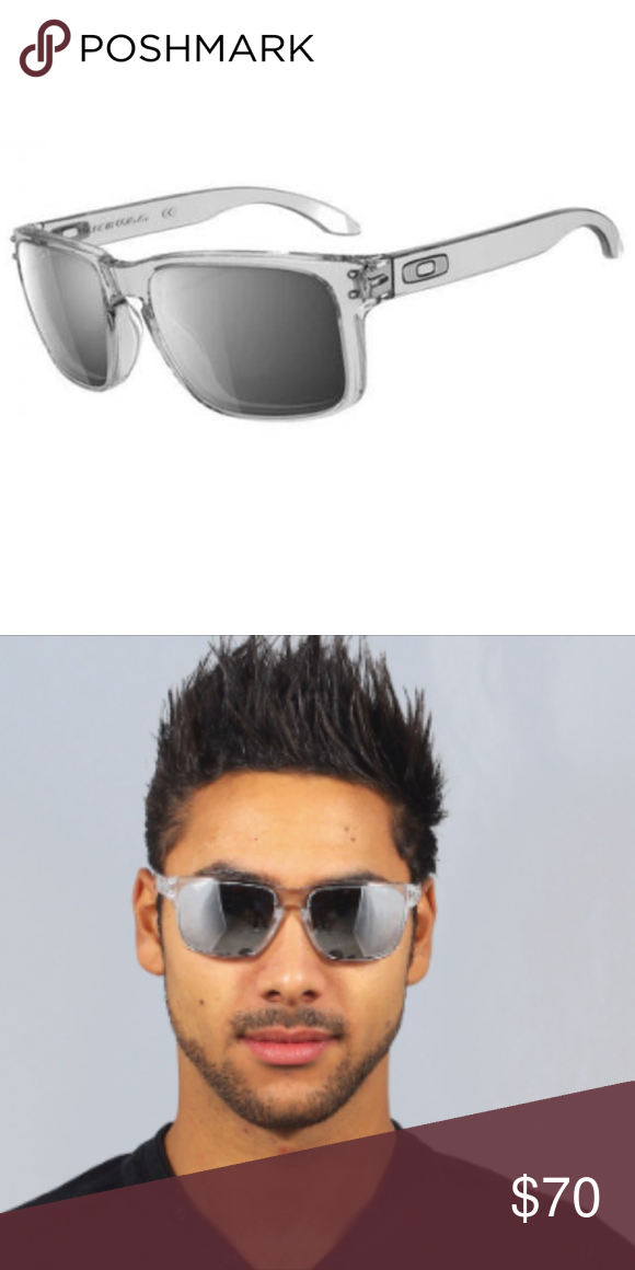 8d455855b9 Oakley holbrook mens sunglasses clear chrome oakley holbrook clear chrome  iridium sunglasses the picture png 580x1160