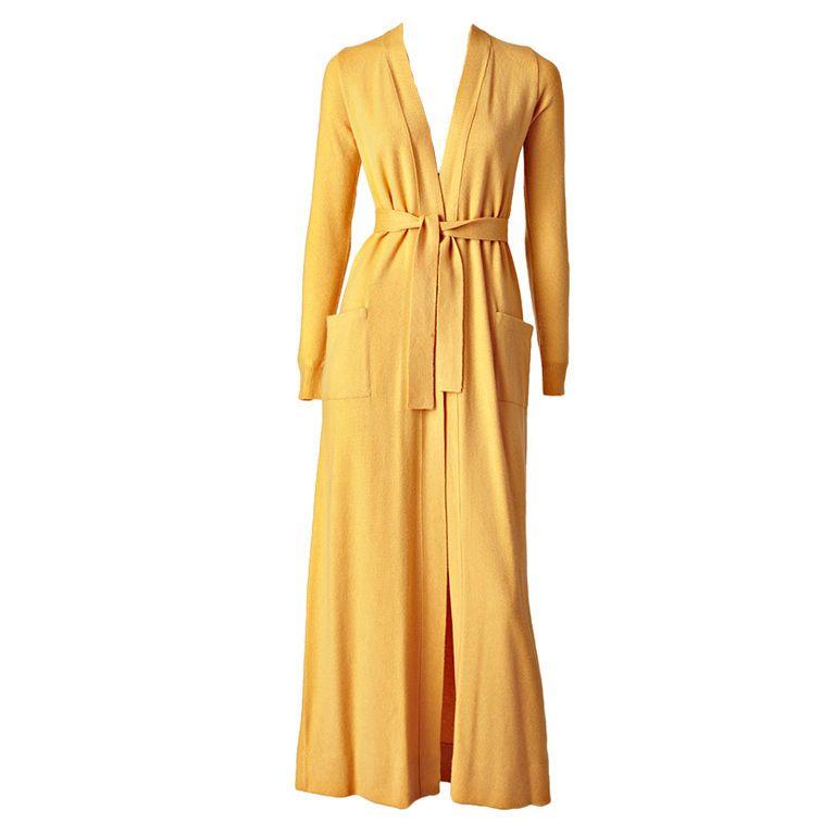Halston Cashmere Cardigan   Cashmere, Long cardigan and Fashion