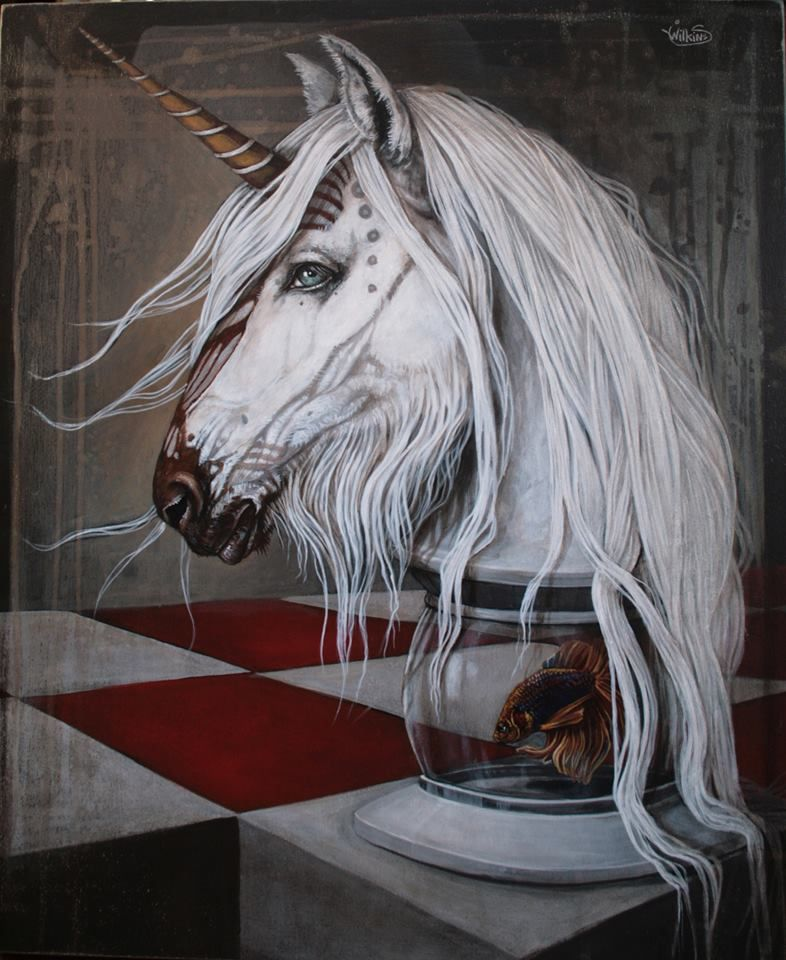Sophie Wilkins | ACRYLIC | Douce cavaliere