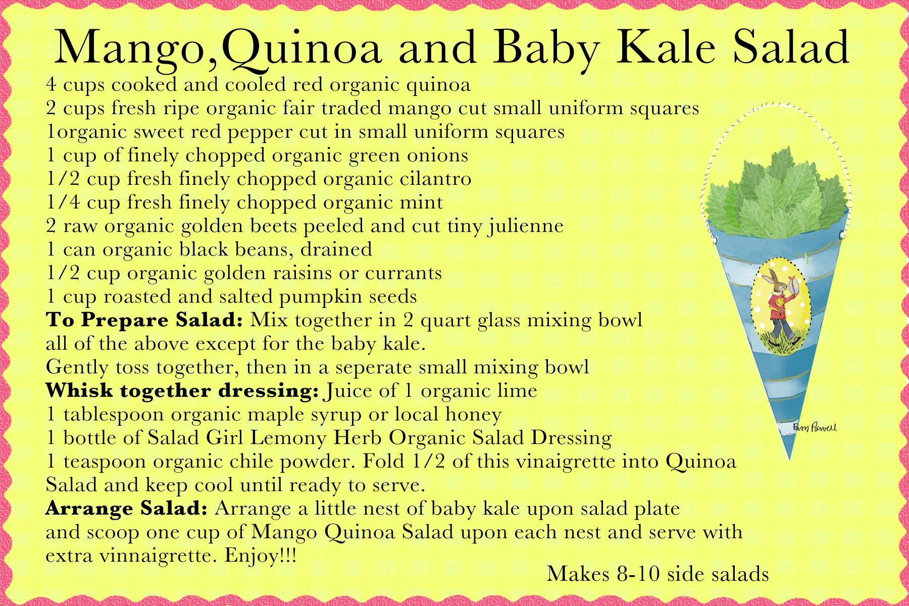 Mango Quinoa and Baby Kale Salad
