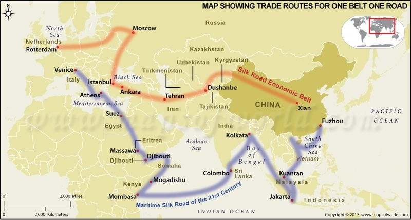 China one belt one road map thematic maps pinterest china one belt one road map gumiabroncs Image collections