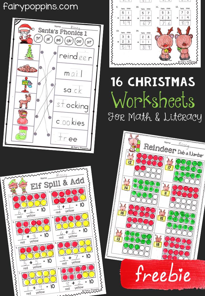 Free Christmas Worksheets | free | Pinterest | Kindergarten ...
