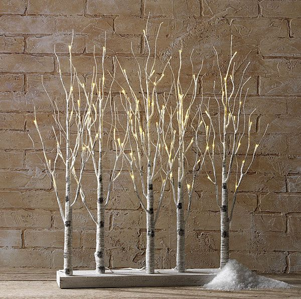 Warm White Tree Branch Stick LED Fairy Light Battery Table Centrepice Decoration