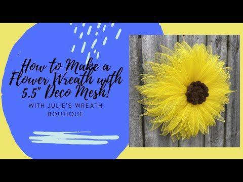 How to Make a Deco Mesh Wreath | Sunflower Wreath Tutorial | Easy DIY Crafting