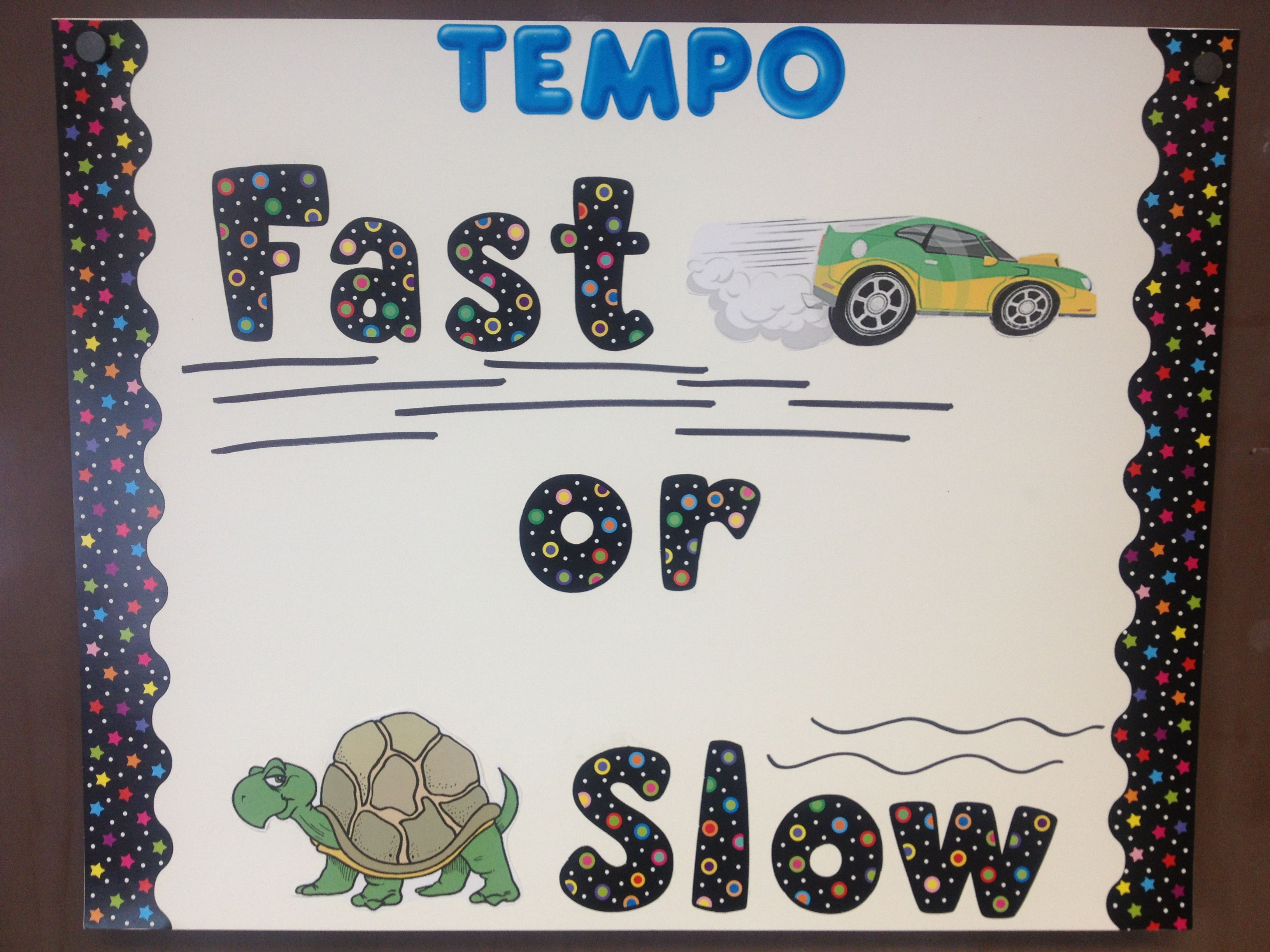 Tempo Music Can Be Fast Or Slow Elementary Music Class