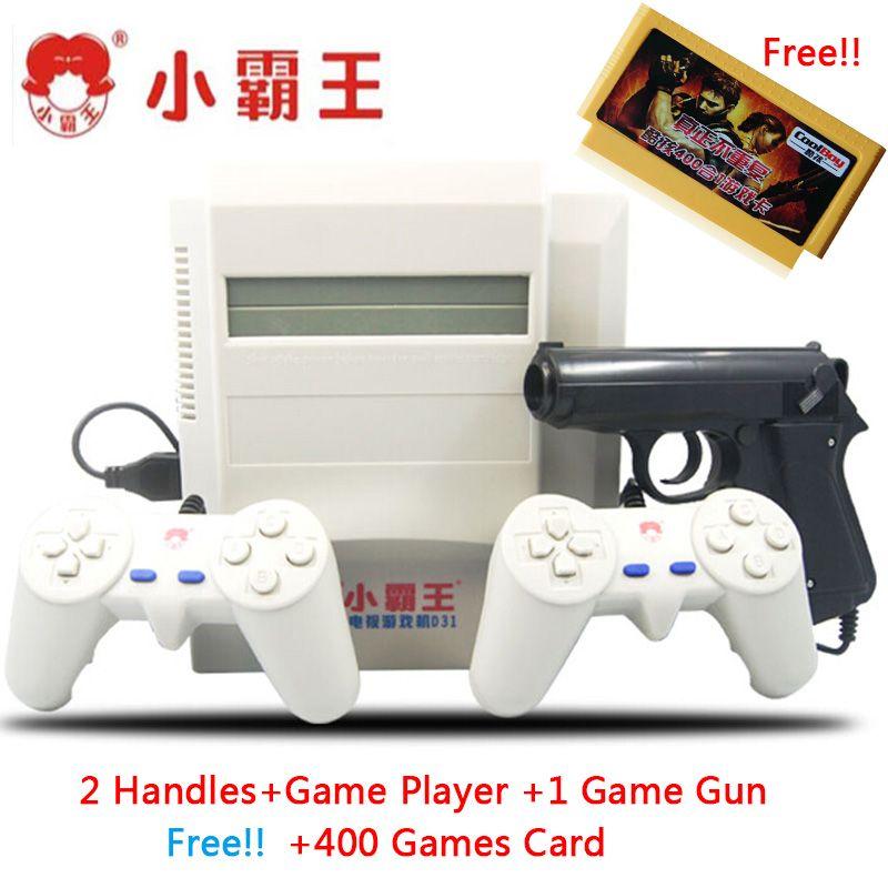 Subor D31 TV spielkonsole bully 8 bit doppelgriff nostalgischen klassischen schießen spiel + 400 IN 1 game card Familie Video Spiel konsolen