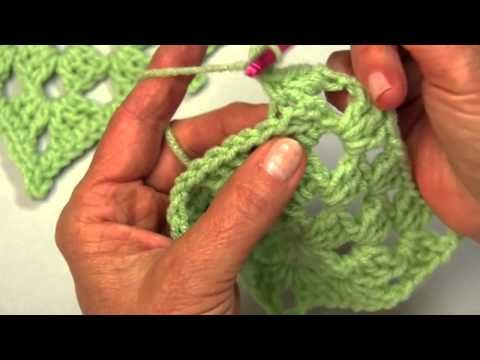 Learn how to make a crochet picot edging with Red Heart Yarns