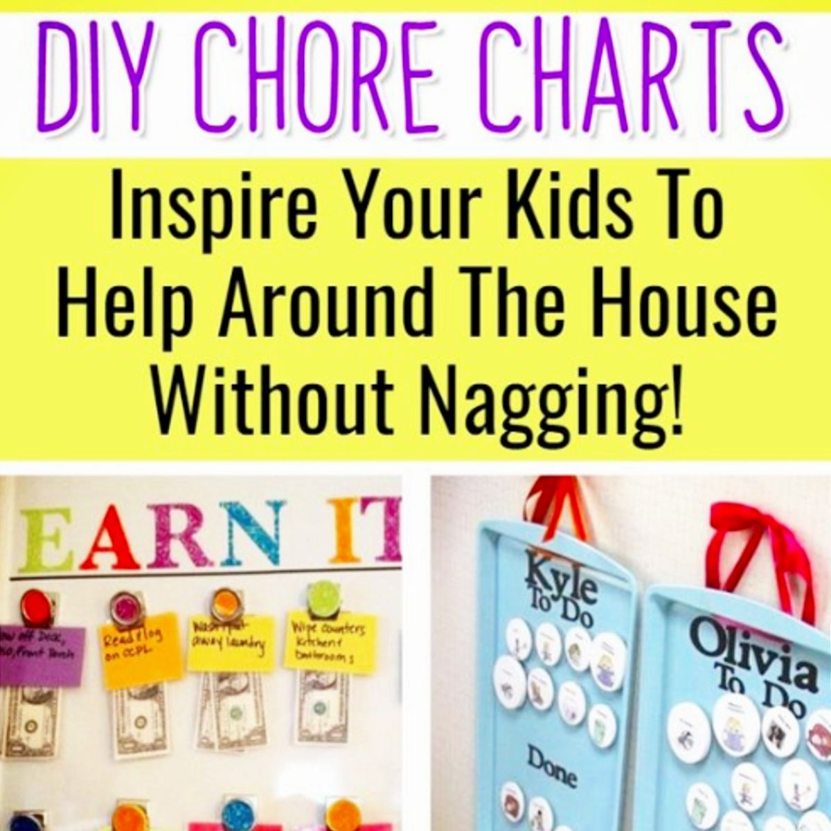 Chore Chart Ideas Easy Diy Chore Board Ideas For Kids