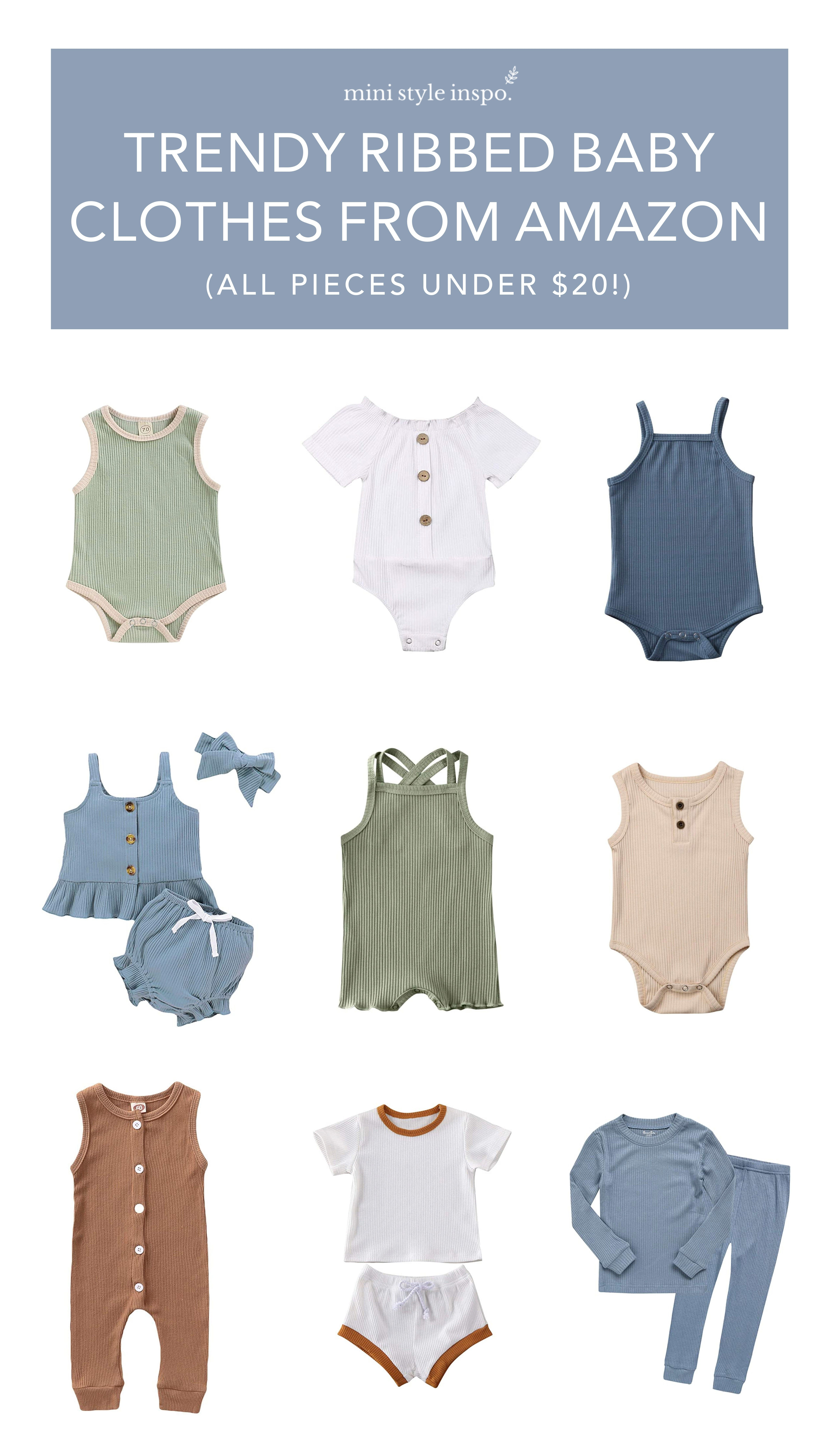 Trendy Ribbed Baby Clothes from Amazon (All Under $7!)  Little
