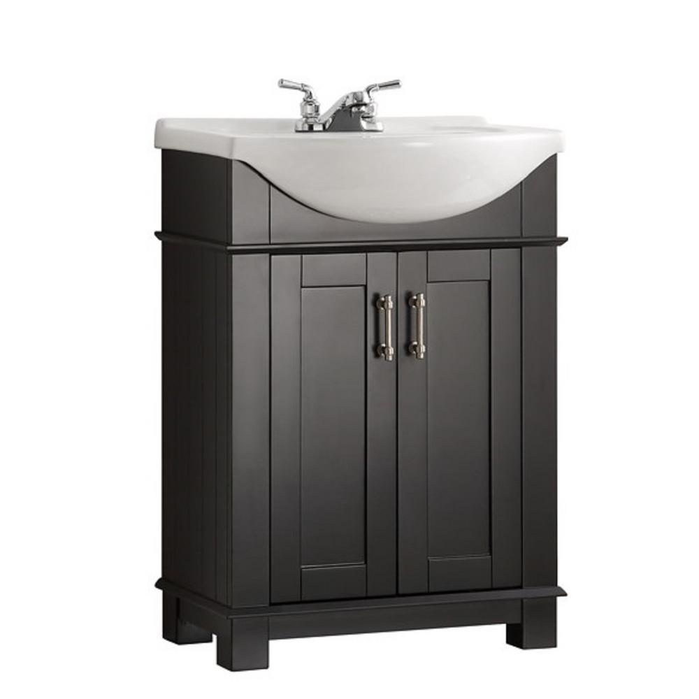 Rona Salle De Bain Vanite ~ fresca hudson 24 in w traditional bathroom vanity in black with