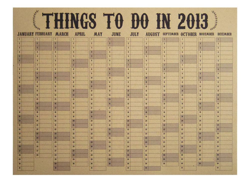 2013 Eco Wall Planner/Study Calendar | Planner | Pinterest ...