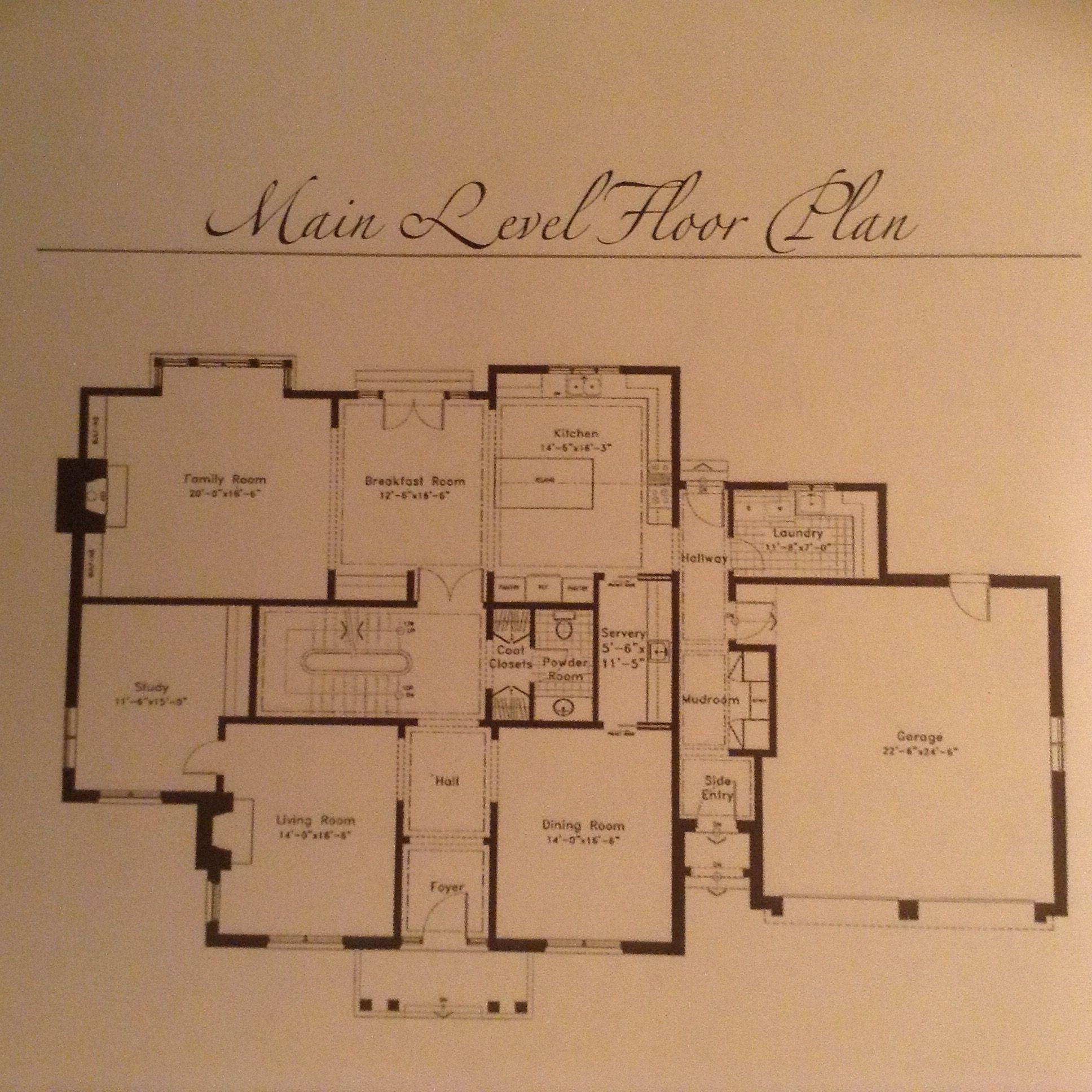 Morrison Oakville On Main Level Luxury House Plans Floor Plan 4 Bedroom House Plans