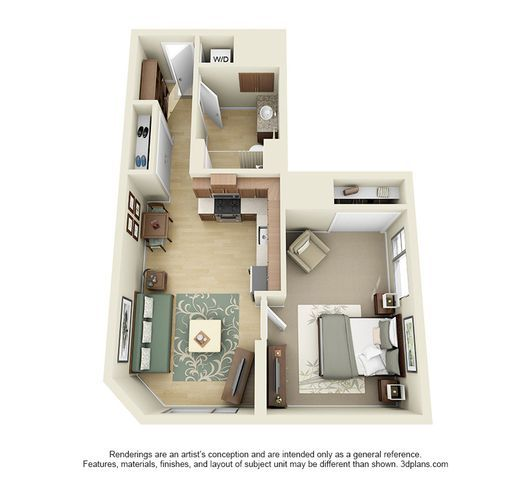 Studio 1 2 And 3 Bedroom Apartments In Los Angeles Sims House Plans Apartment Floor Plans House Design