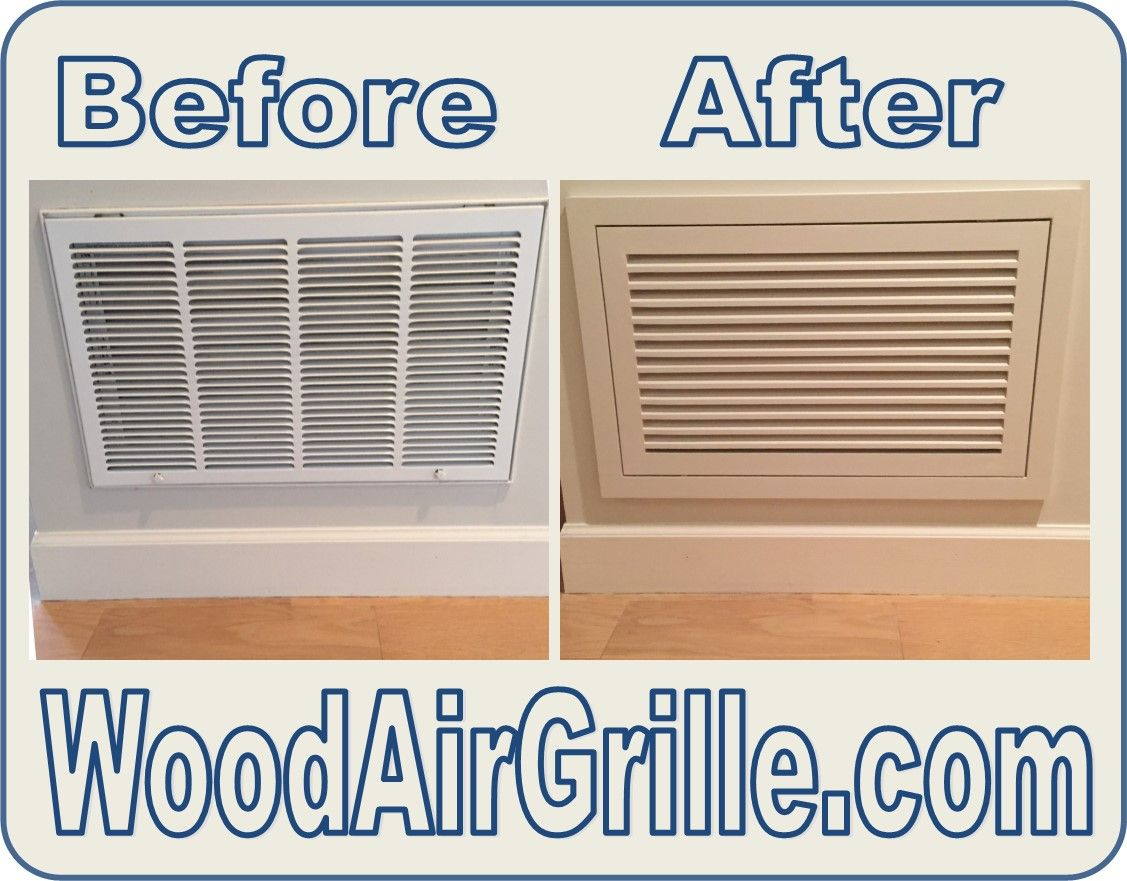 See the difference a Wood Return Air Filter Grille from