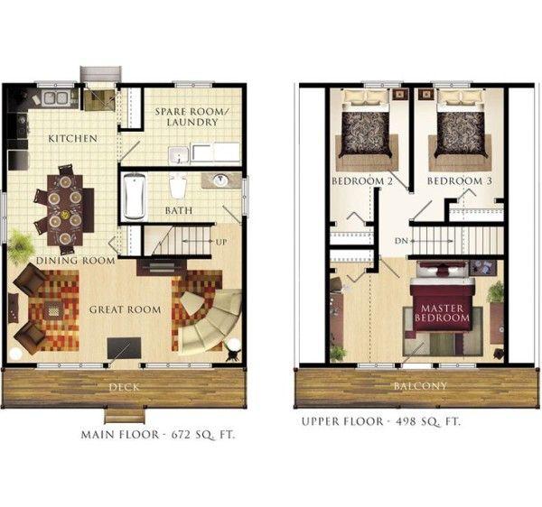 Small Cabin Designs with Loft also Master Bedroom Sets Using King ...