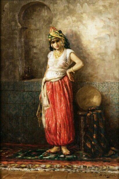 Algerie peintre fran ais antoine gadan 1854 1934 for Interieur algerien