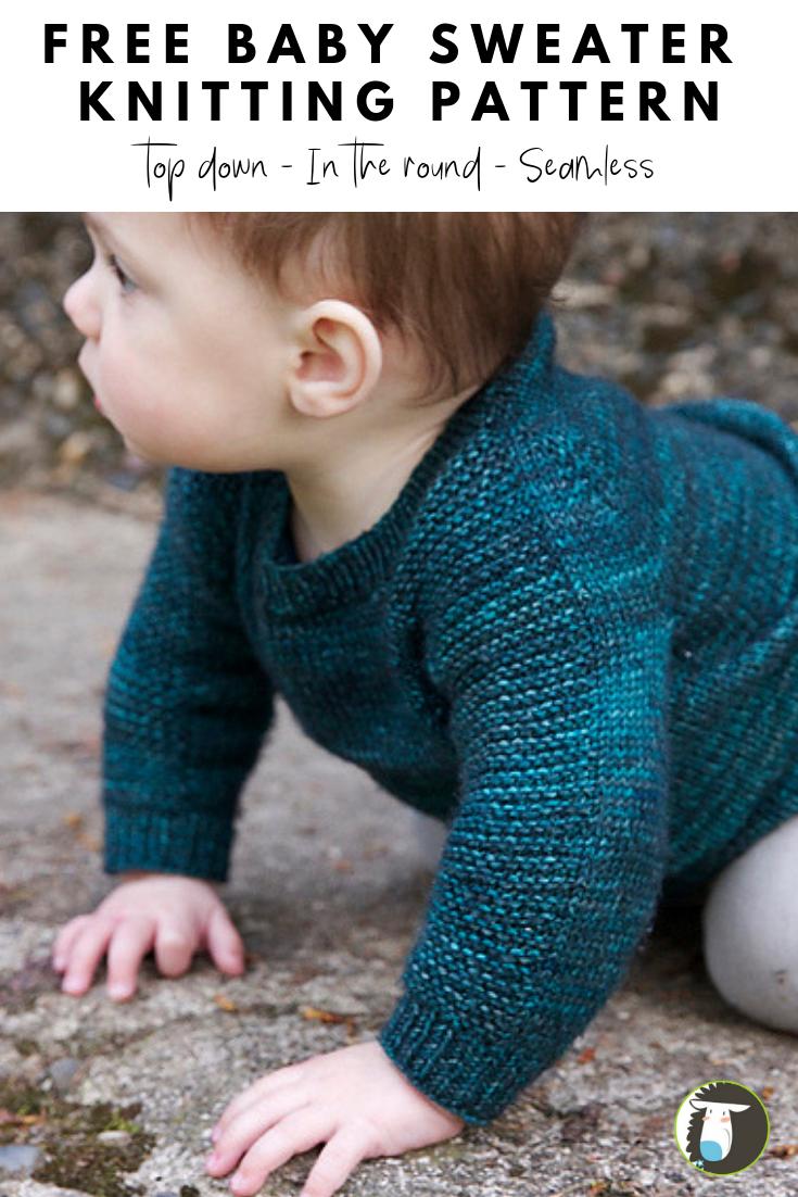 БЕСПЛАТНЫЙ образец вязания для младенцев: этот бесшовный узор выполняется по кругу от …
