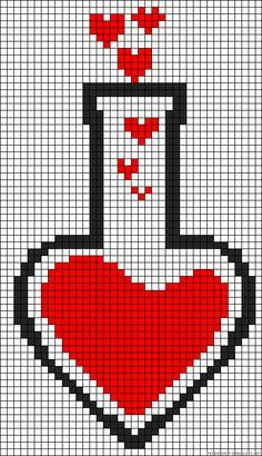 love potion perler bead pattern kirjoneule ruutupiirokset pinterest alpha patterns bead. Black Bedroom Furniture Sets. Home Design Ideas