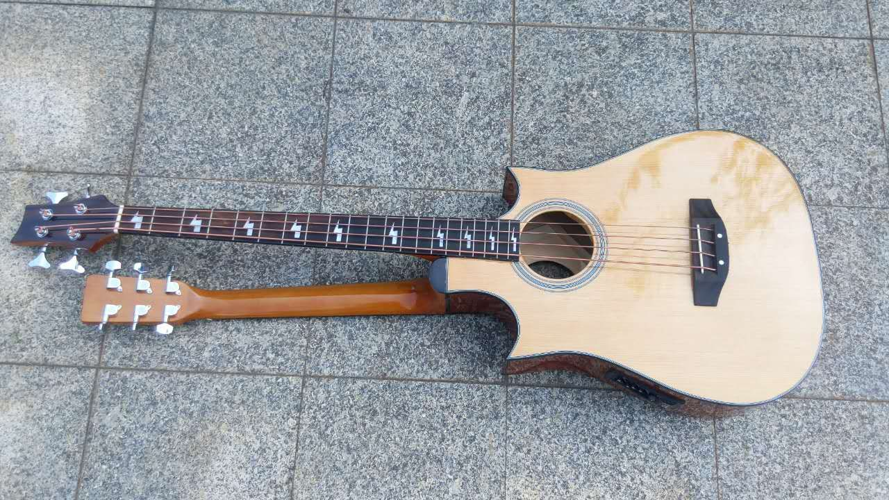 Busuyi Guitar Double Neck Double Sided Acoustic Electric Launches On Kickstarter Guitar Acoustic Electric Acoustic