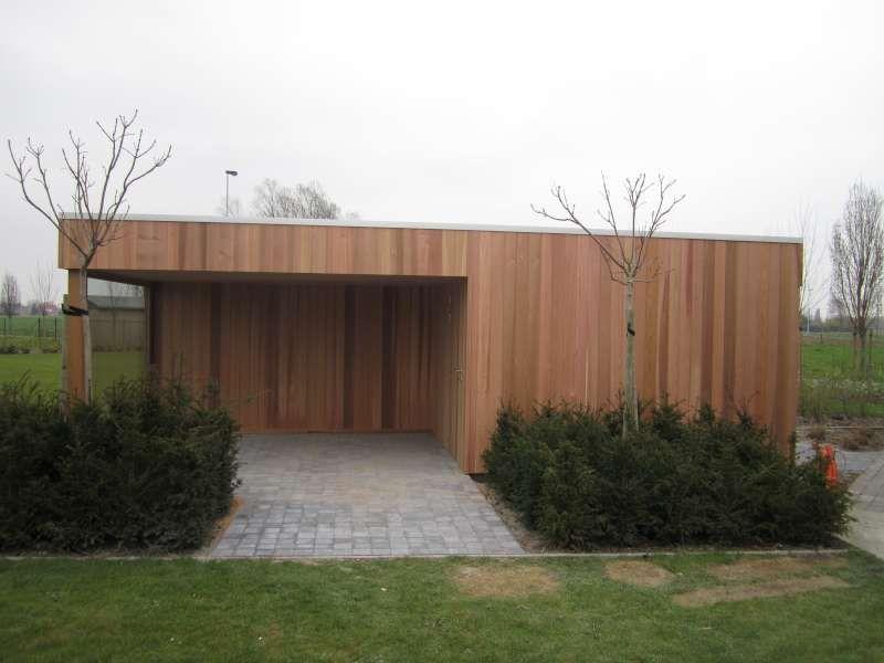 Tuinhuis kubus modern daniel decadt houten constructies houthandel proven garden - Huis modern kubus ...