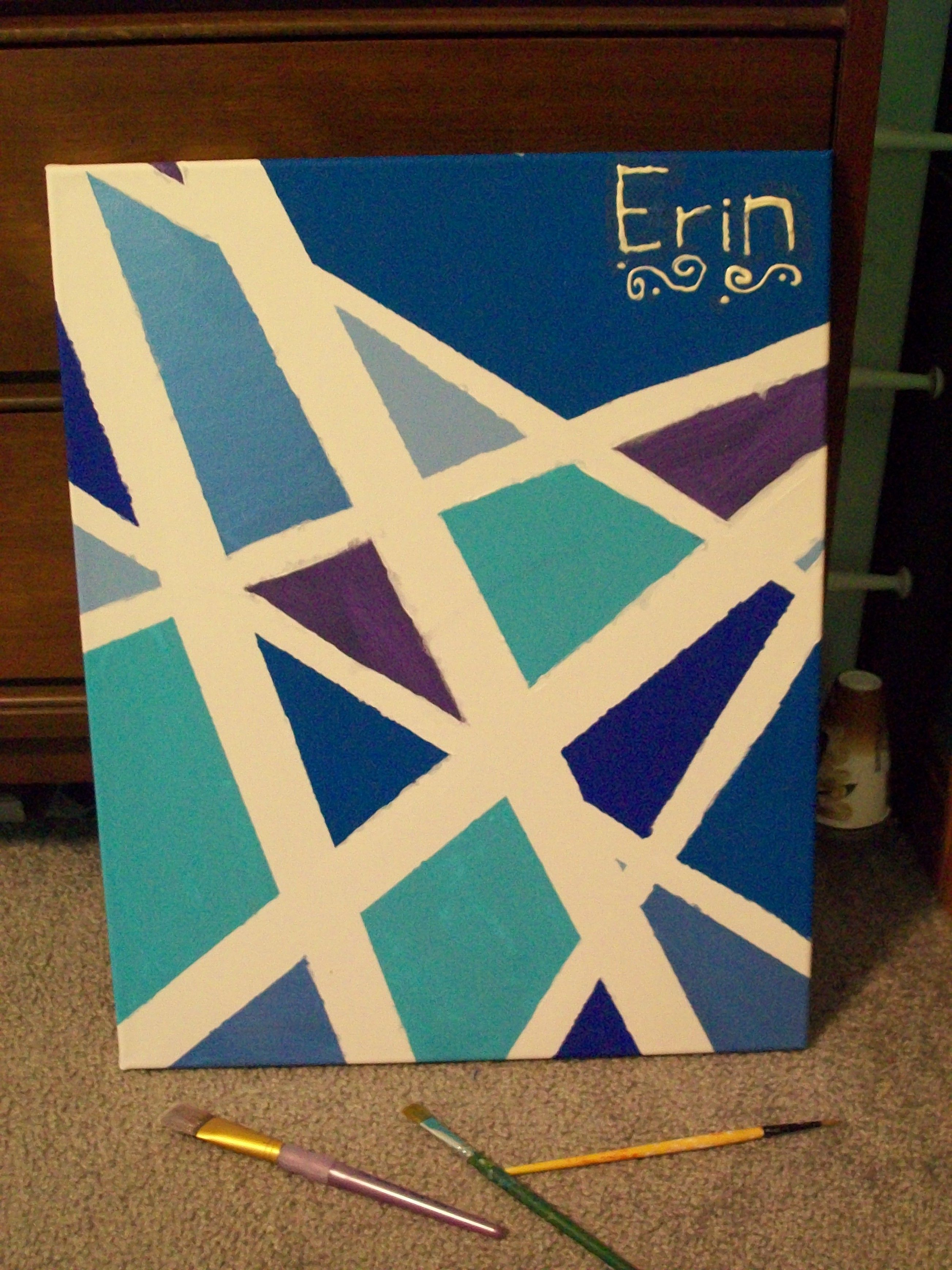 use painters tape   Arts and Crafts   Pinterest   Painters tape ...