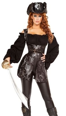 Vestiti Halloween Roma.Women S Pirate Of The Night Costume Donne E Finnets Costumi Di