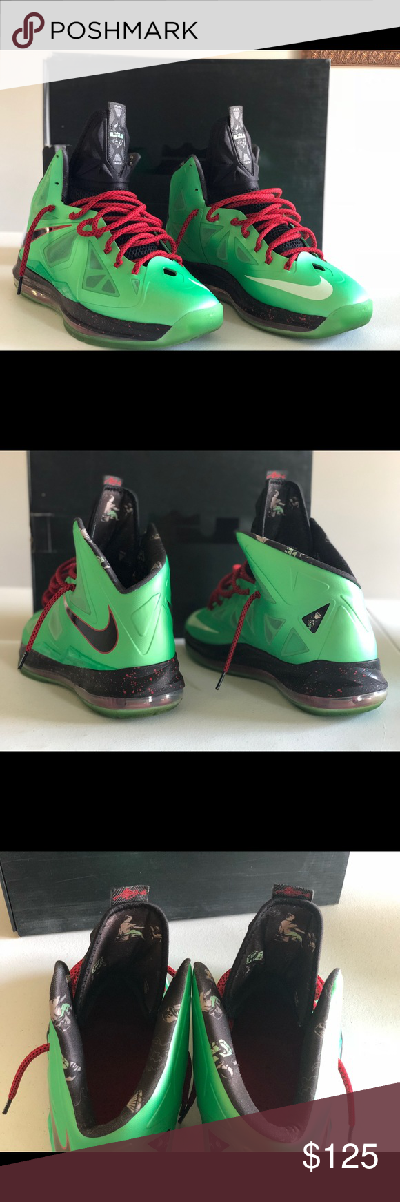 quality design 3b256 ce443 Lebron X Cutting Jade Size 12.5 Nike Lebron X Cutting Jade size 12.5, but  fits like a 13. Almost deadstock. 9 10. Worn twice. All Life left.