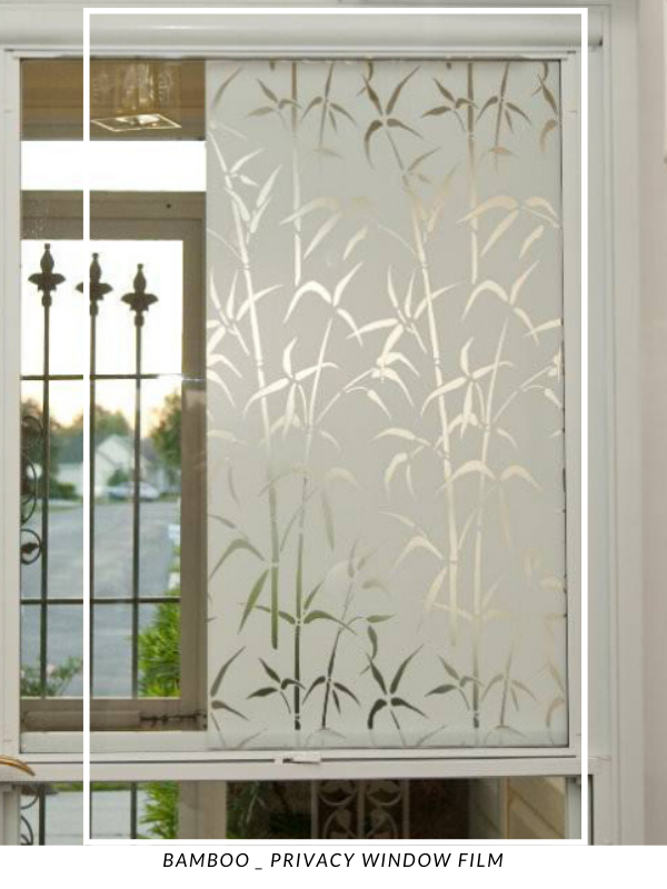 Bamboo Privacy Window Film Static Cling In 2020 Window Film Privacy Window Privacy Window Film