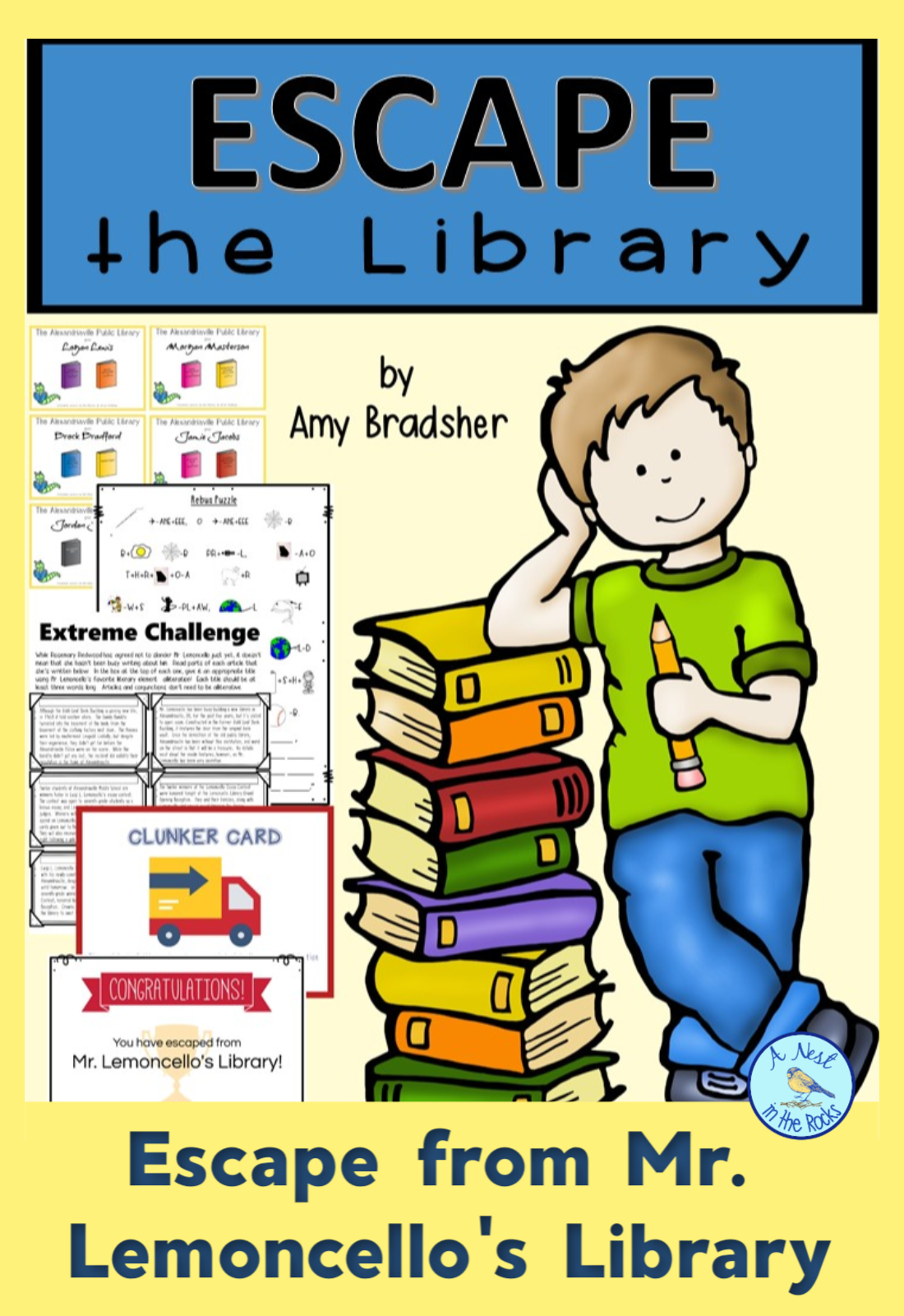 Escape The Library An Escape Room Challenge For Mr