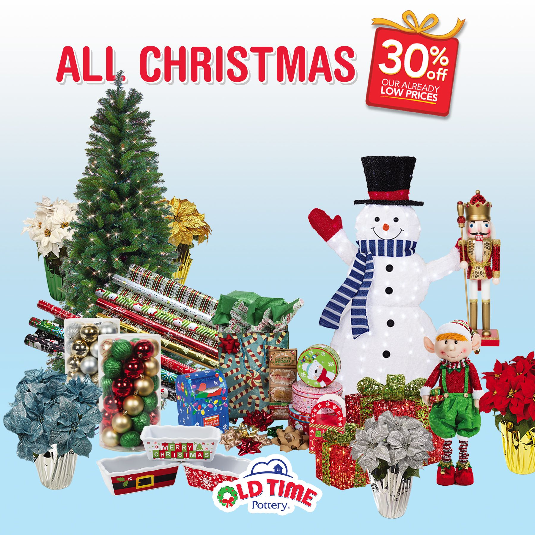 Joy to the world ALL Christmas and ALL toys are off at Old