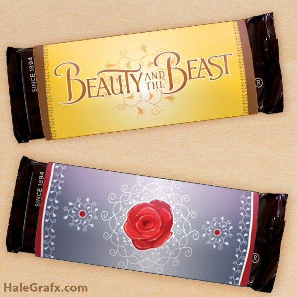 Free Printable Beauty And The Beast Candy Bar Wrappers Beauty And The Beast Party Free Beauty Products Beauty And The Beast