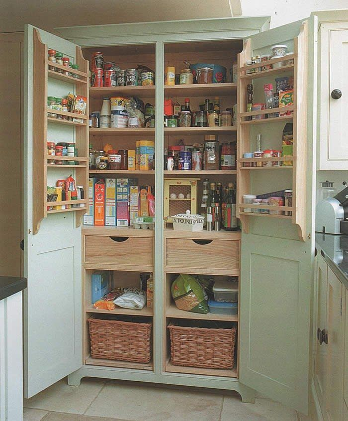 Build A Freestanding Pantry Diy Projects For Everyone Freestanding Kitchen Free Standing Kitchen Pantry Kitchen Cabinet Storage
