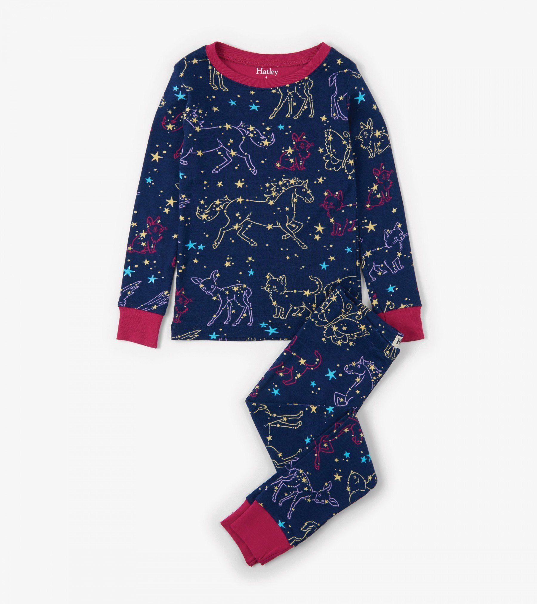 Celestial Night Organic Cotton Pajama Set Girls Shop