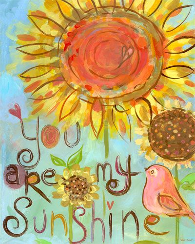Sunshine Sunflower Canvas Wall Art | Jada, Sunshine and Songs