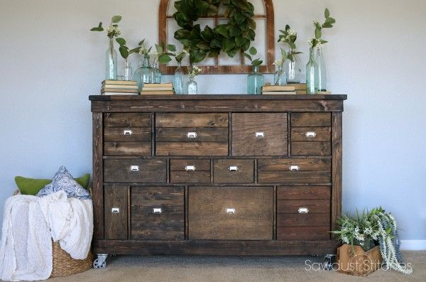 IKEA Makeover into Pottery Barn Style Apothecary – Sawdust 2 Stitches