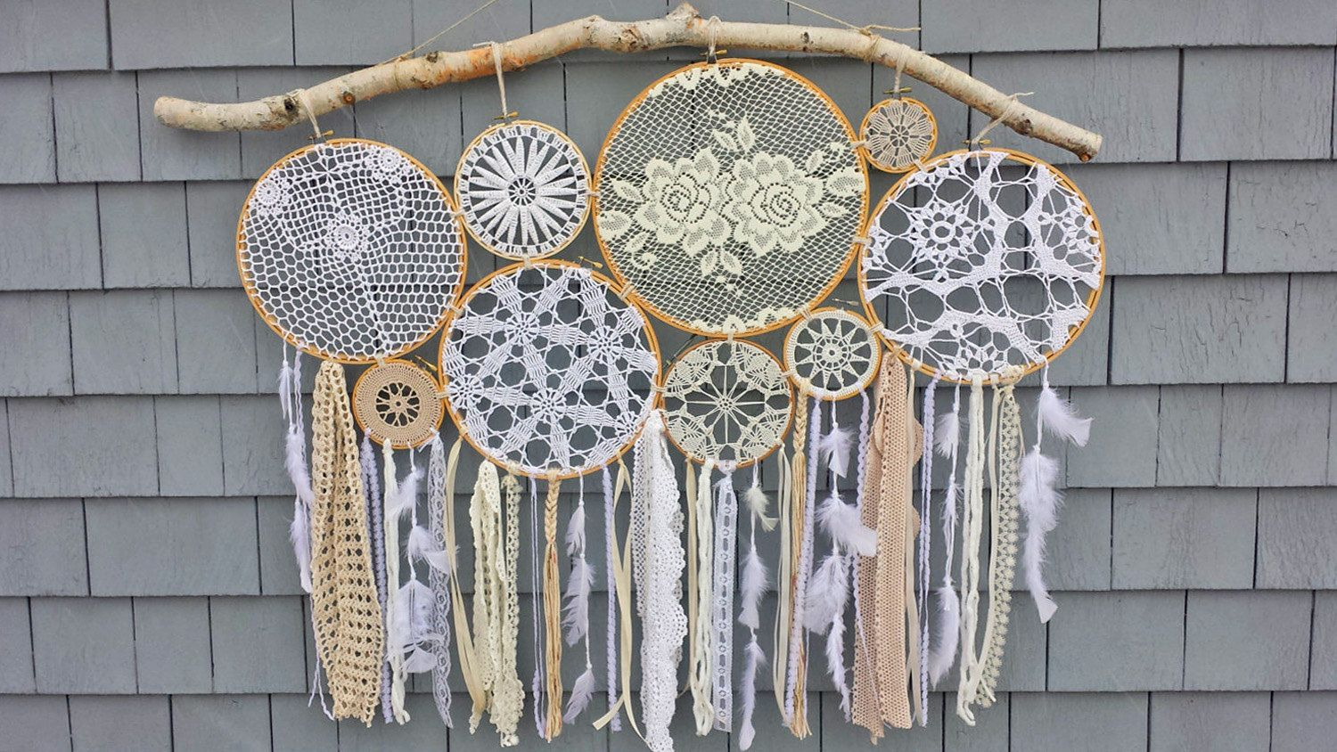 Dreamcatcher Wall Hanging, 40 Inches Wide By 36 Inches