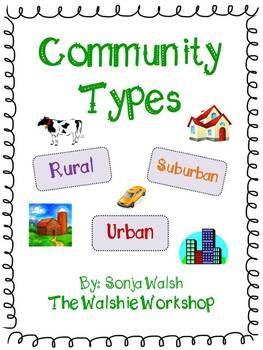 Urban, Suburban, & Rural Communities Activities - Grades 2,3 &4 ...