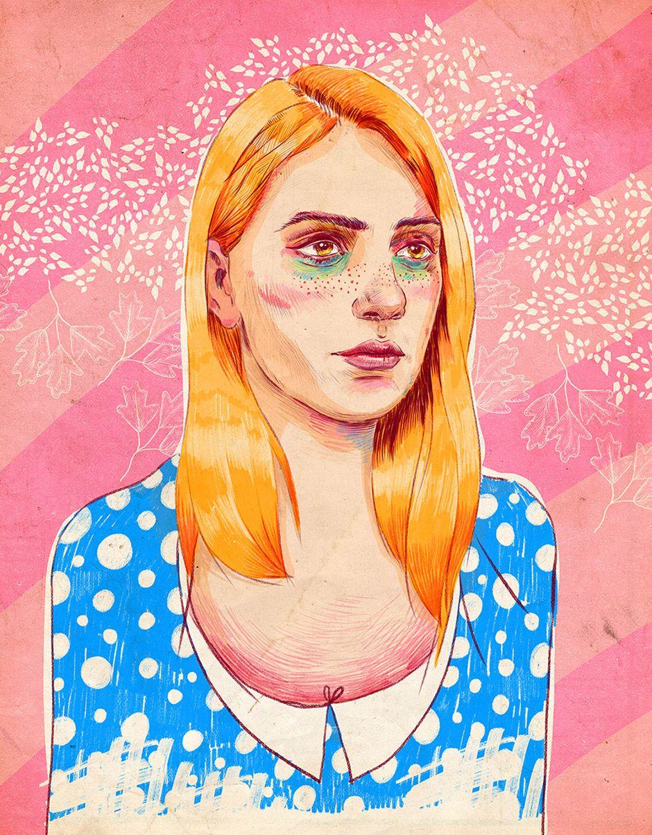Moonie #carinacrenshaw #illustration #drawing #portrait #art #illustratorin #sugah #alice