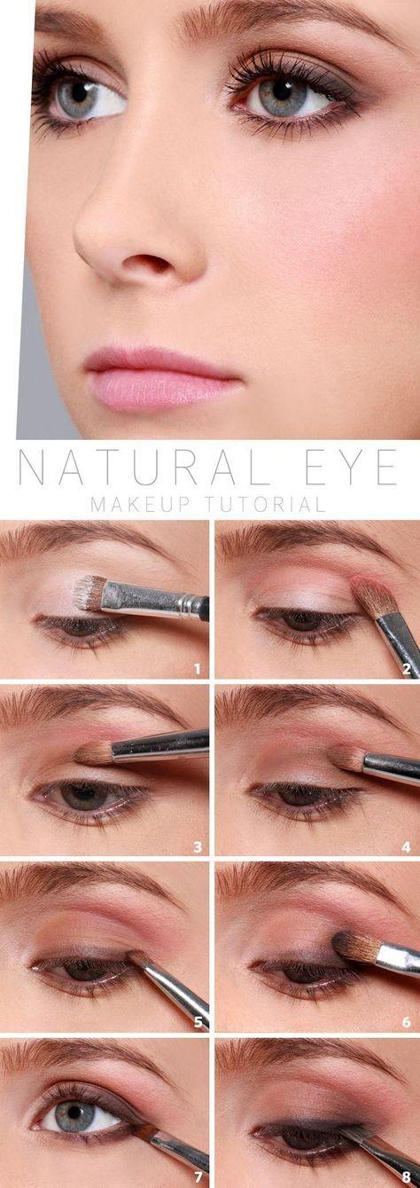 12 Tutoriales para obtener un look natural con tu maquillaje Makeup - maquillaje natural de dia