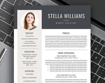 Superb Professional Resume Template Creative Resume Modern Resume By ResumeExpert  | Etsy Intended For Creative Professional Resumes