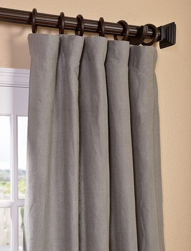 New Grigio Grey French Linen Curtain Linen Curtains Curtains Linen Curtain Panels