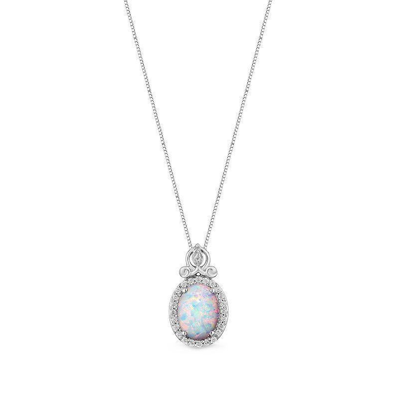 1c3834ddb5412 Enchanted Disney Fine Jewelry 1/10 CT. T.W. Diamond and Lab-Created ...