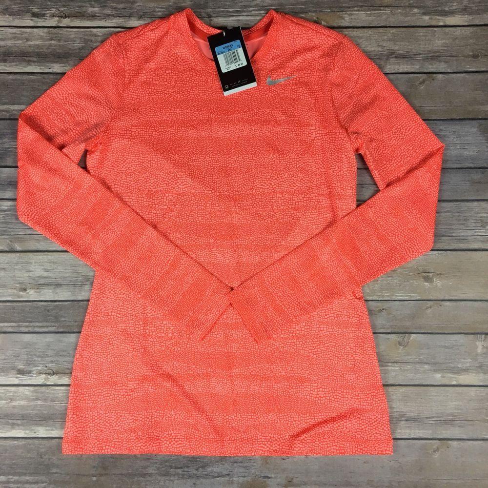 6eef5ac3 Nike Womens golf shirt size M Medium UPF 40 Dri-fit long sleeve Orange  Nikegolf #Nike #BaseLayers #nikegolf #shirt #top